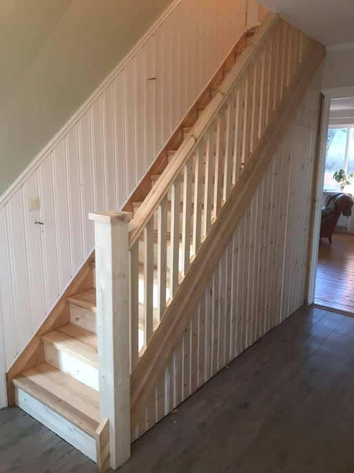 Restaurering av trappa, Hille i Gävle
